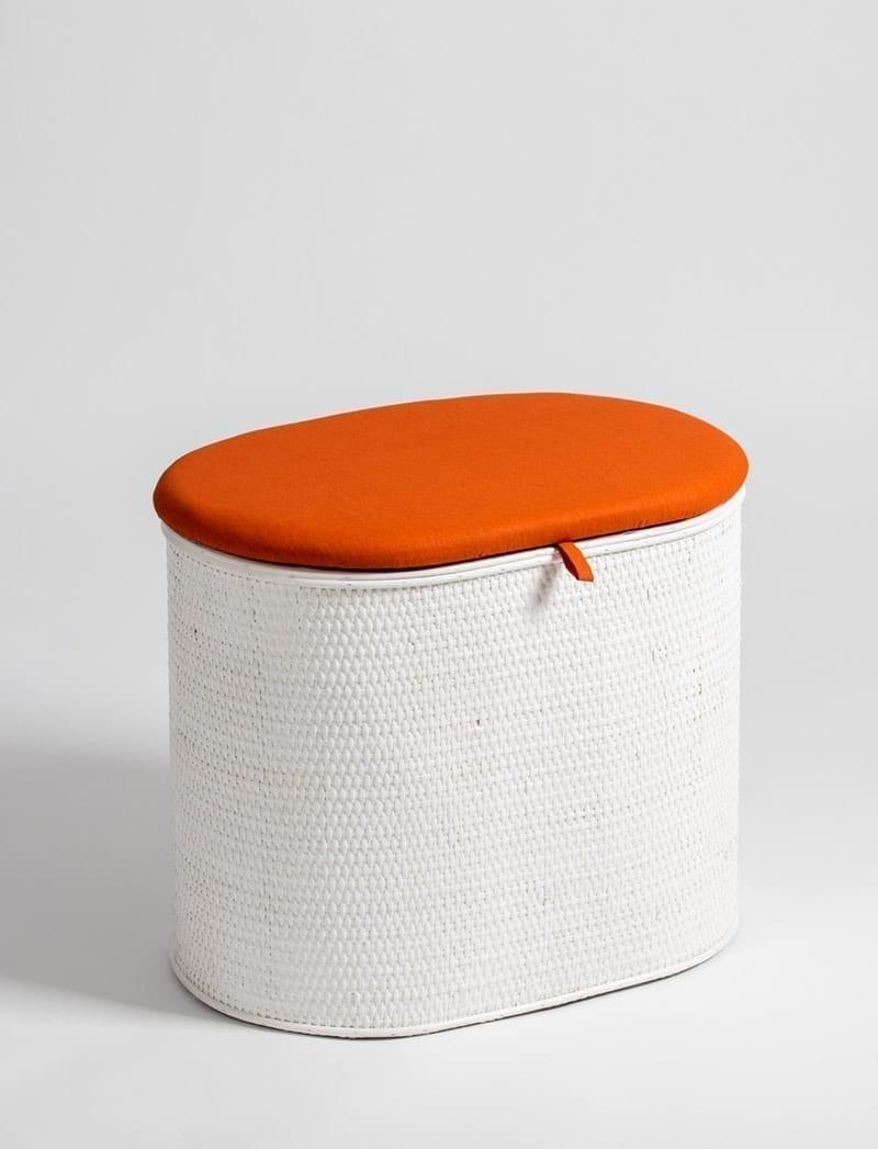 art 28 645 bijeli narancasta 1 Košara za rublje, Art. 28/645, oval