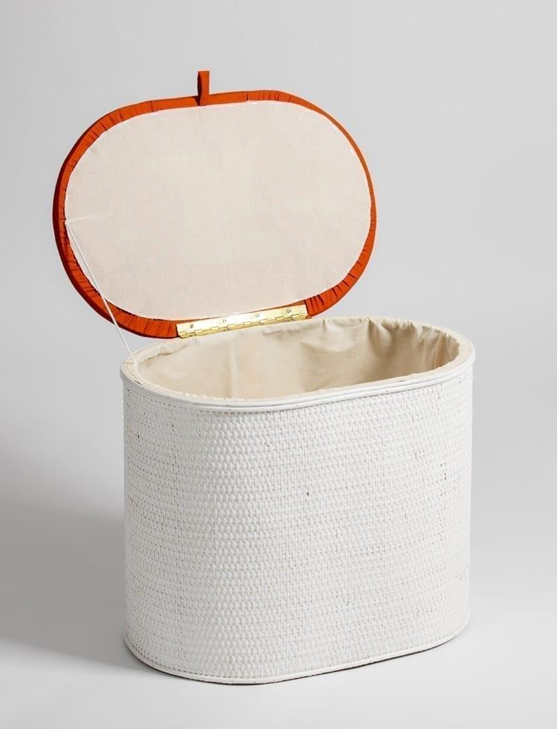 art 28 645 bijeli narancasta 2 Košara za rublje, Art. 28/645, oval
