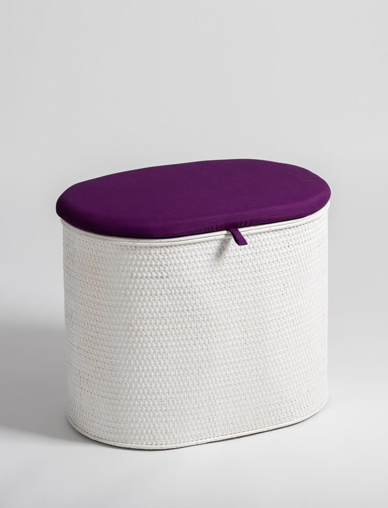 art 28 645 oval bijeli ljubicasta 1 Košara za rublje, Art. 28/645, oval