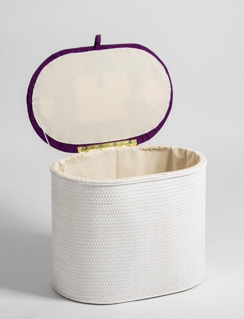 art 28 645 oval bijeli ljubicasta 2 Košara za rublje, Art. 28/645, oval