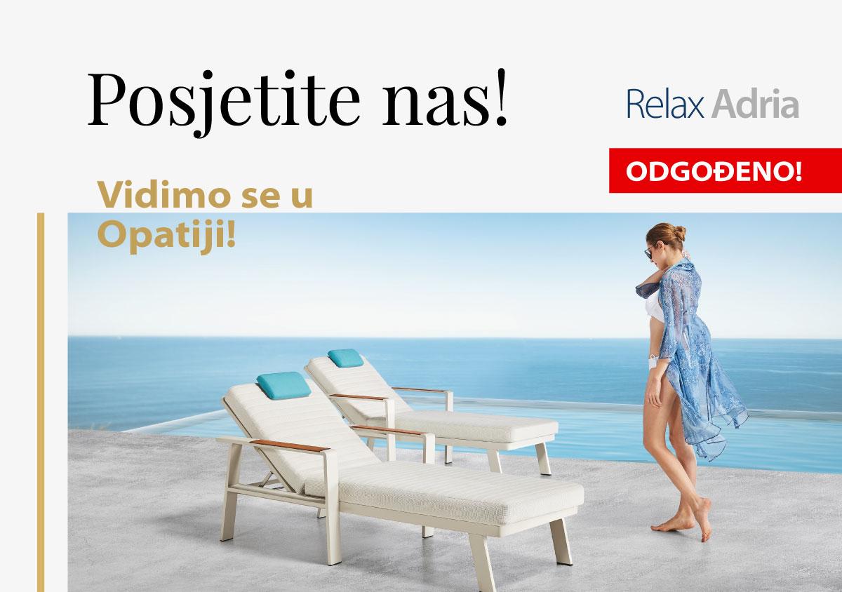 web novost odgodjeno Relax Adria Opatija - ODGOĐENO!
