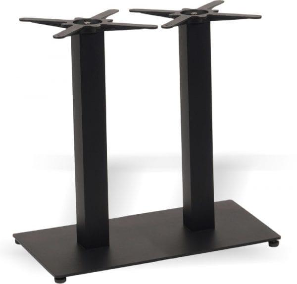 postolje duplo crno flat Postolje za stol duplo četv. crno