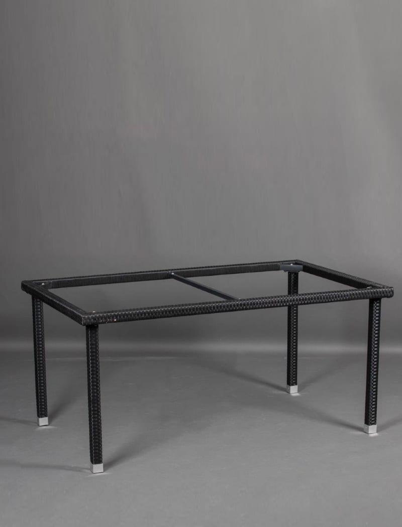 stol crni 5 Garden, ratan postolje za stol