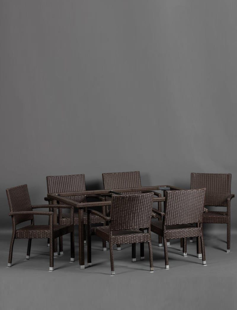 stol smedji 3 Garden, ratan postolje za stol